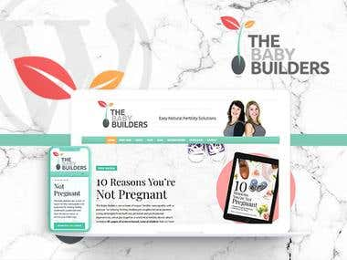 Baby Builders WordPress Website