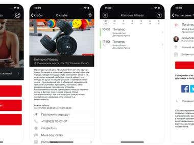 Kolmovo Fitness App