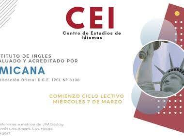 Marketing design for English Institute