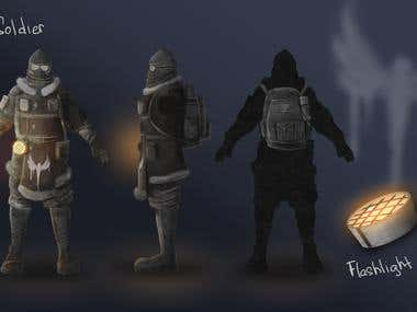 Concept art of soldier