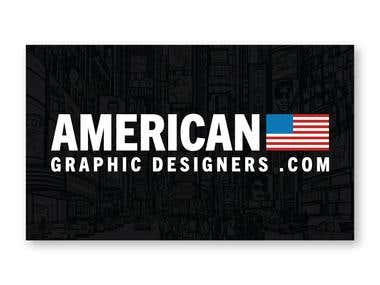 American Graphic Designers Flyer and Logo