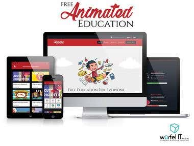 Free Animated education Website, Android and iOS App
