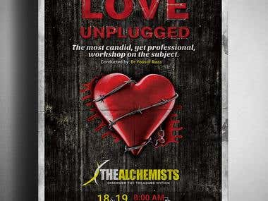 Love Unplugged Workshop Poster Design