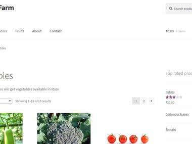 Organic Farm using Woocommerce