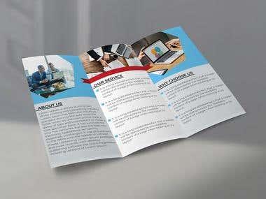 Trifold Company Brochure Design