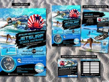 jetsurf flyer and poster