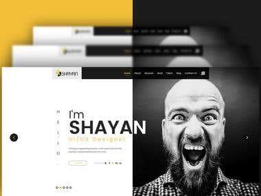 Shayan personal Portfolio PSD Template