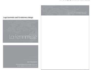 Logo, business card & stationery design