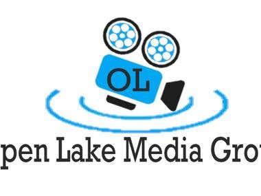 Open Lake Media Group Logo design