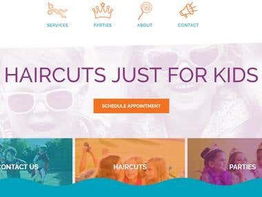 Website for Kids Salon