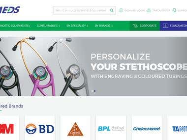 Online Store for Medical Instruments
