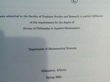 Ph.D.Thesis.Title and signatures.