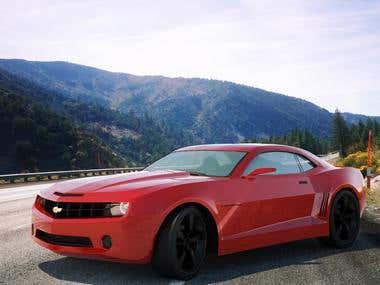 Car 3D Modeling - Chevrolet Cameron