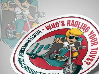 Toy Hauler Sticker