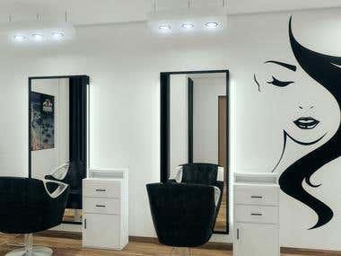Salon 3D Interior Design