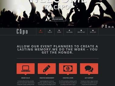 Single page website design - www.capo.co.in