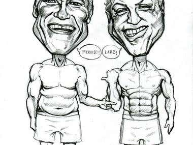 Funny Hollywood Caricature