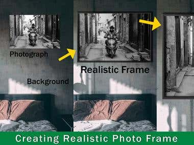 Realistic looking Photo-Frame