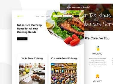 Catering service landing page