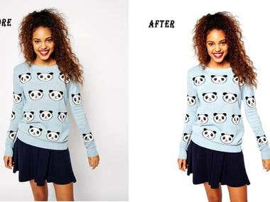 Background removing and retouching