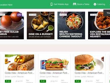 Food delivery Web application Development