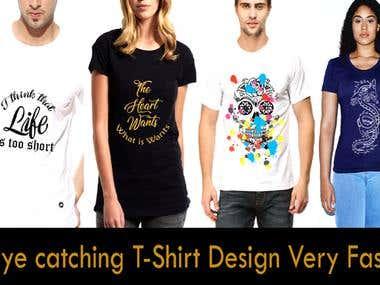 I will design eye catching t-shirt