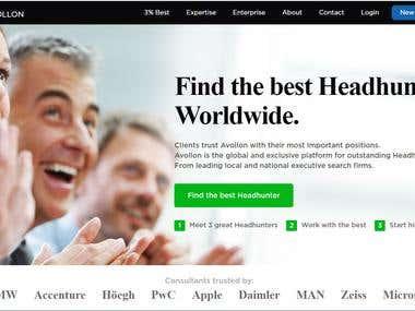 Avollon - Executive search Platform (MVC Web Application)