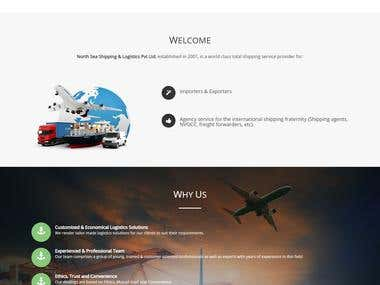 Laravel Website for freight forwarders