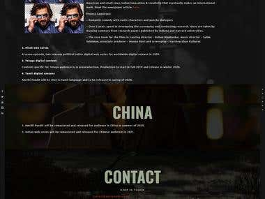 Movie Production House Website