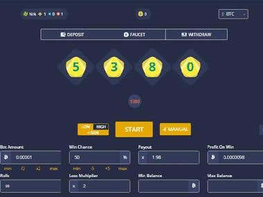 BitCoin Gambling Dice Website