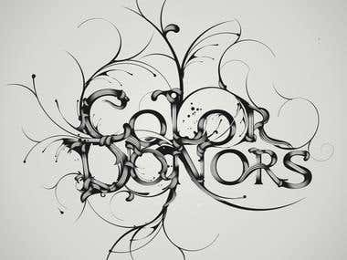 Custom lettering creative typography