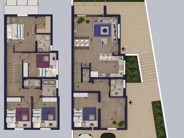 2d houses plans