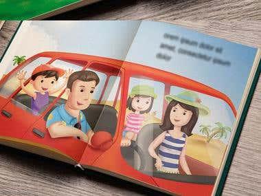 Kids Hindi Rhyme book Illustration