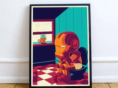 Ironman Poster Design