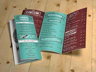 Dimsum Democracy Menu card design