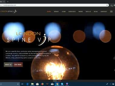 Wordpress Parallax Website Made For Londone Spine Vip