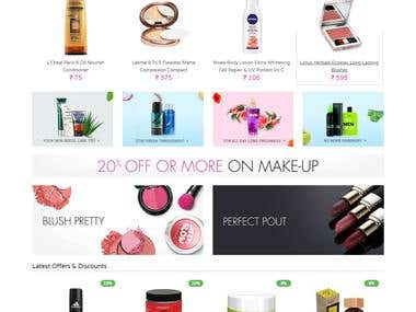 Beauty and cosmetics website (WordPress)