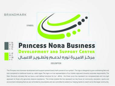Logo Design Princess Noura University Business Development