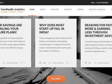 Website for Advisory Company