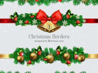 design Christmas cards, flyers, party invites etc