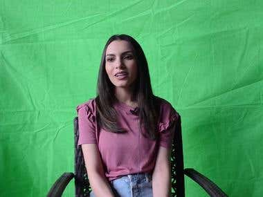 Green Screen Compositing for a Charity interview