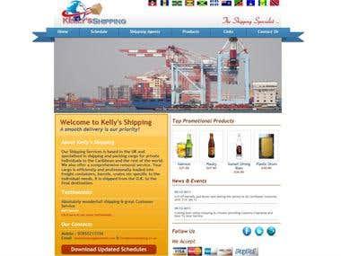 Kellys Shipping Website - www.kellysshipping.co.uk