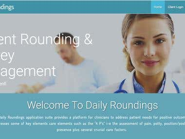 Daily Rounding Web-App (http://www.dailyroundings.com)