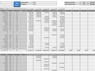 Excel - Project & Expense Tracker, report/invoice generator