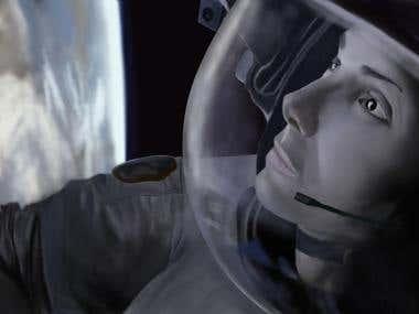 Gravity Digital painting.