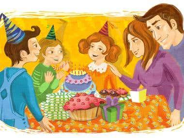 Birthday illustration