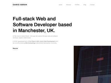 Web design & development - Portfolio Dawid Abram