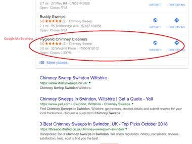 The bottom half of the search results page.