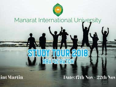 Study tour banner design