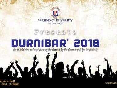 Durnibar 2018 PU Banner Design